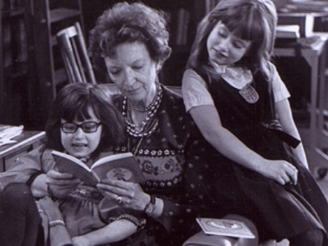 L'Engle with her granddaughters, 1976 (NPR)
